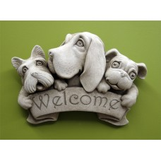 Triple Dog Welcome Plaque