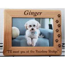 Engraved Solid Wood Photo Frame