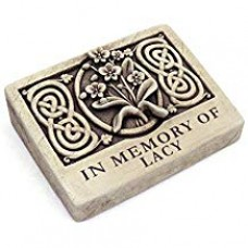 Wild Orchid Engraved Stone