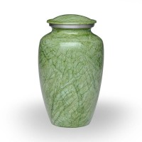 Alloy Cremation Urn in Beautiful Green – Keepsake – A-1410-K-NB