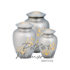 Paw Print Classic Urn - Pewter & Brass