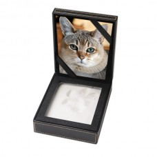 Clay Paw Print Impression Kit in Leather Photo Frame Case – PC01-S