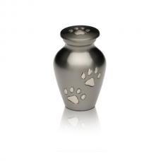 Paw Prints Brass Pet Cremation Urn – Keepsake – B-1614-K-NB