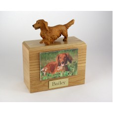 Photo Urn with Figurine and 3.5 x 5 photo holder